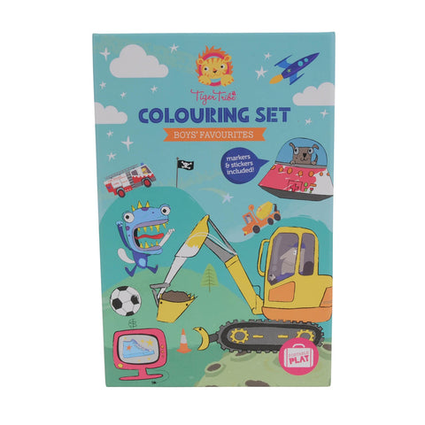 Colouring Set - Boy's Favourites