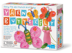 French Knitting Butterfly