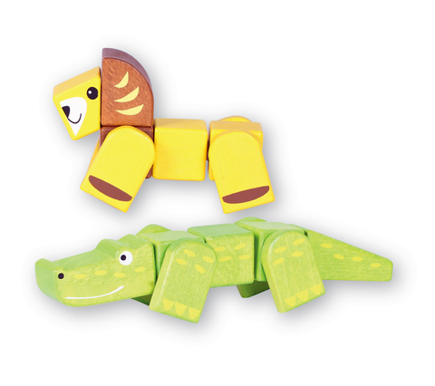Discoveroo - Snap Blocks: Lion and Croc