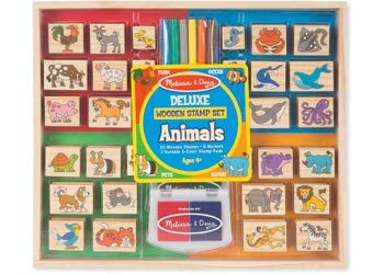 M&D – Deluxe Wooden Stamp Set – Animals