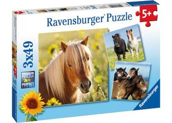 Ravensburger - Loving Horses Puzzle 3 x 49pc