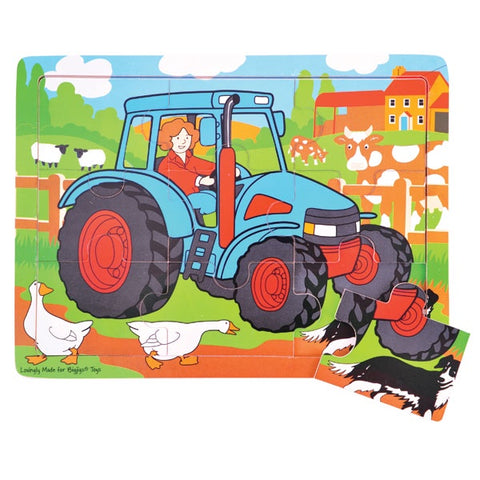 Bigjigs - Tray Puzzle - Tractor