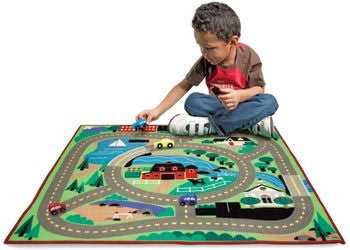 Town Road Play Rug & Vehicles