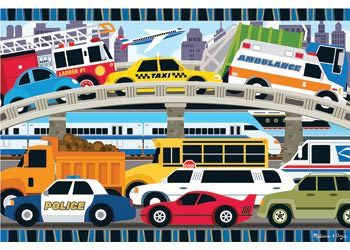 M&D - Traffic Jam Floor Puzzle - 24pc