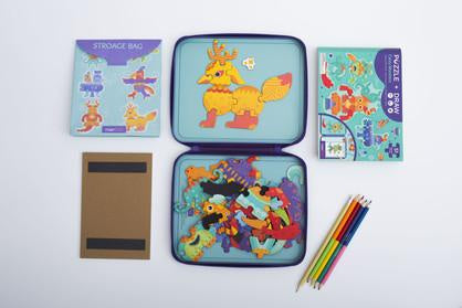 MierEdu PUZZLE + DRAW MAGNETIC KIT - Crazy Monsters