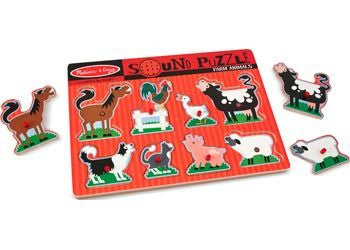 M&D - Farm Animals Sound Puzzle - 8pc