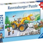 Diggers At Work Puzzle 2x24pc