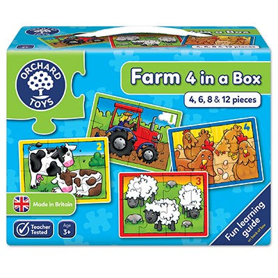 Orchard Toys - Farm Four In A Box Jigsaw