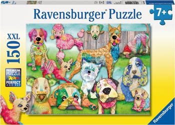 Ravensburger-Patchwork Pups Puzzle 150pc