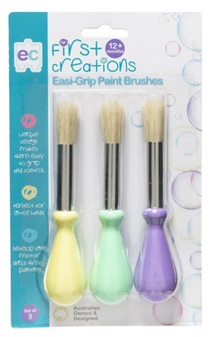 Easi-Grip Paint Brushes Set of 3