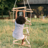 3-SIDED ROPE LADDER WITH TEAL HANGER