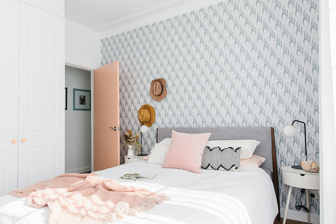 Misty Eyed gum leaf eucalyptus wallpaper Luxe Walls Love From Shop colaboration