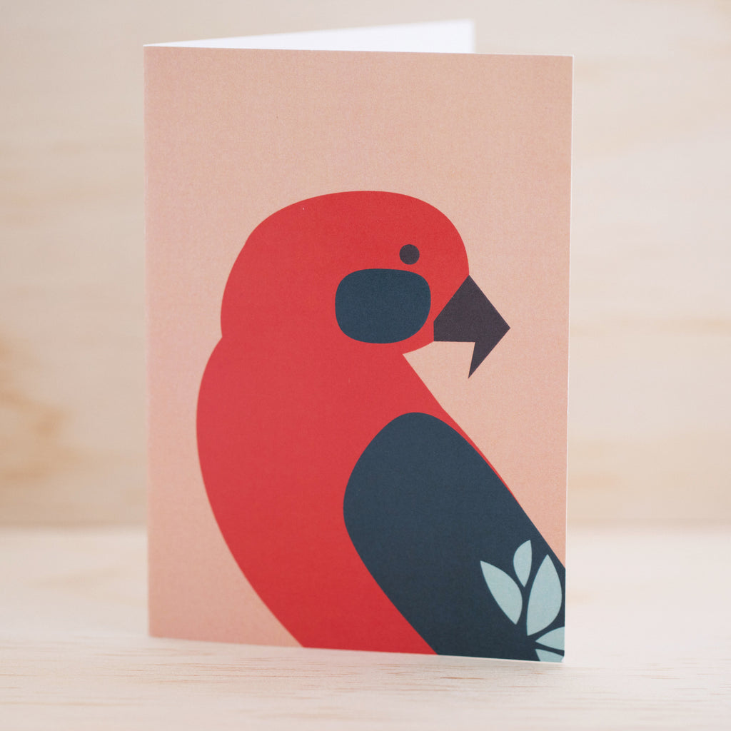 Greeting Card - Crimson Rosella Australian Native Bird