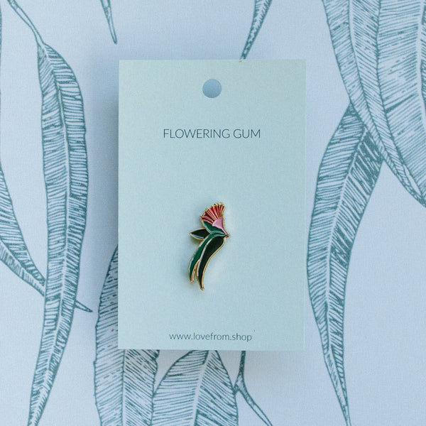 Flowering gum enamel pin