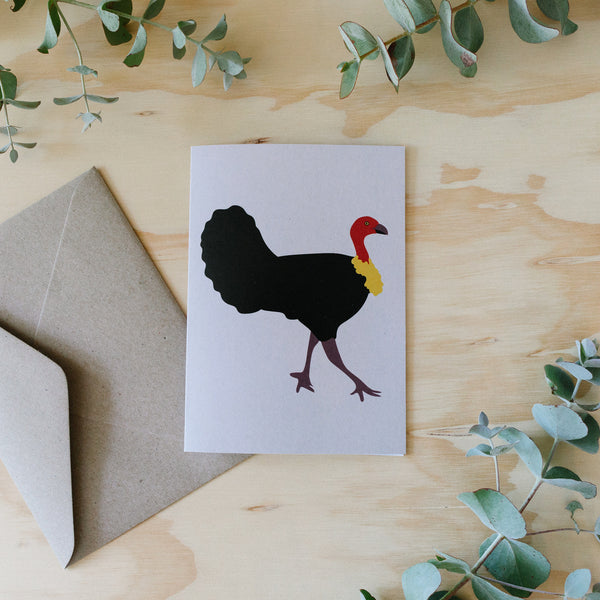 Greeting Card - Bush Turkey Australian Bird
