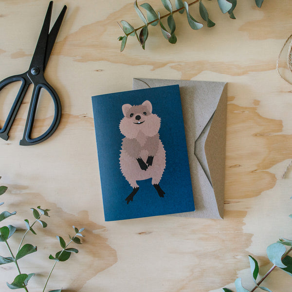 Greeting Card Quokka Australian Animal