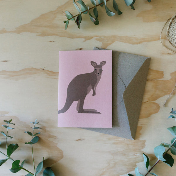 Greeting Card Kangaroo Australian Animal