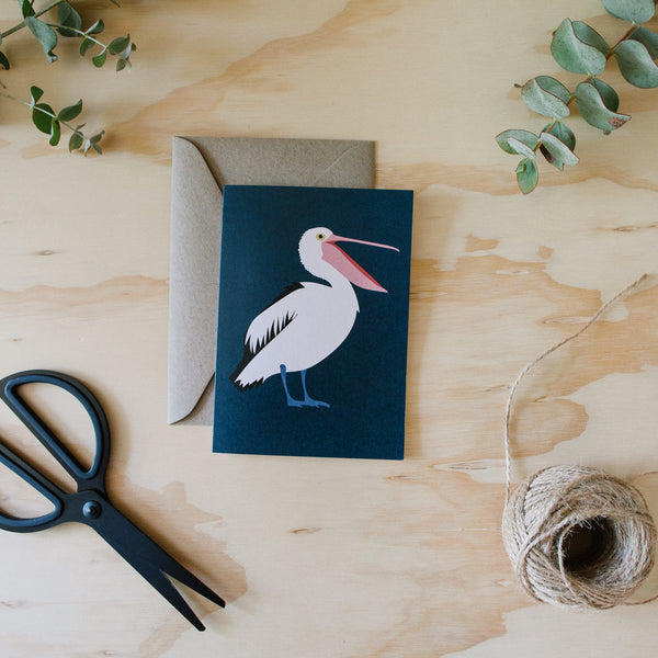 Greeting Card - Pelican Australian Birds