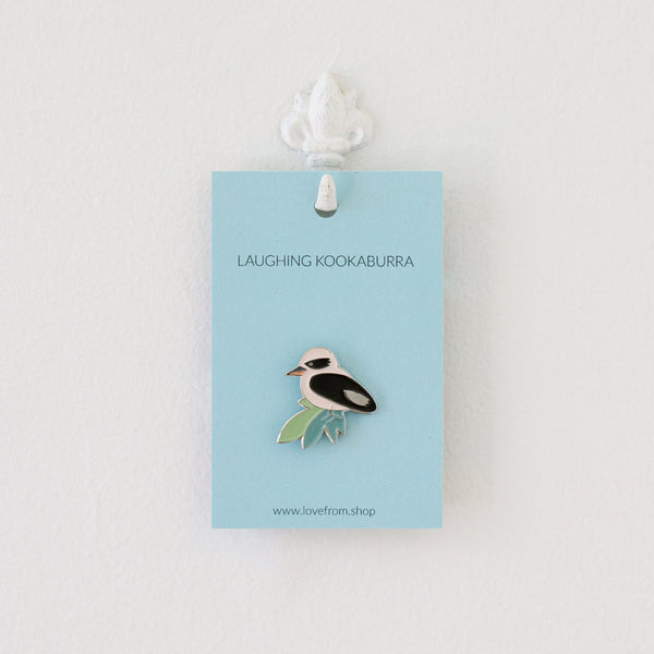 Laughing Kookaburra enamel pin brooch