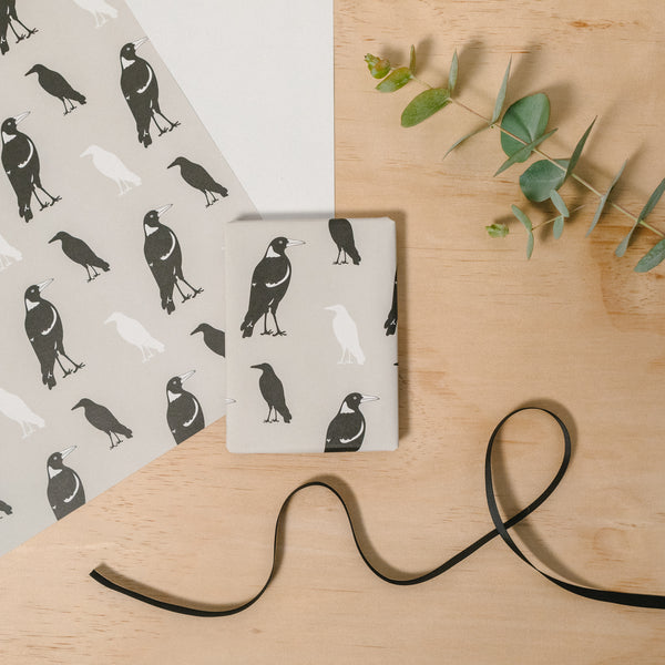 Gift Wrap - Magpie Wrapping Paper