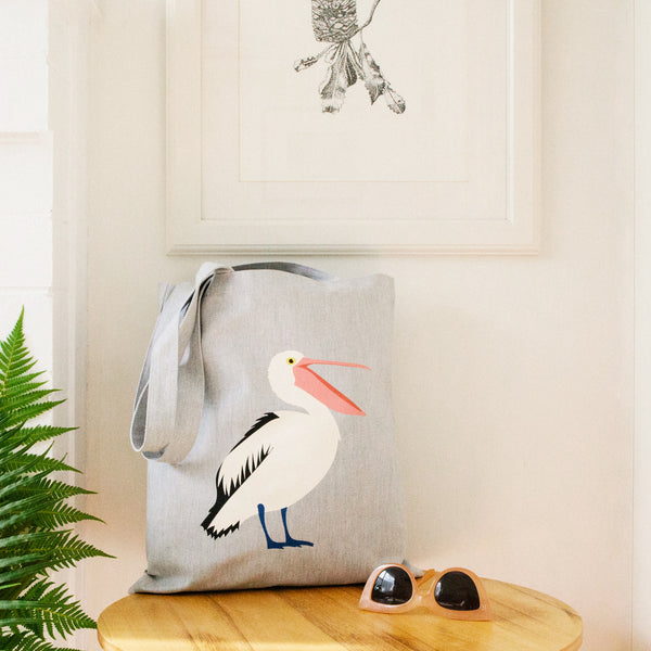 Pelican Tote Bag  Australian Native Bird