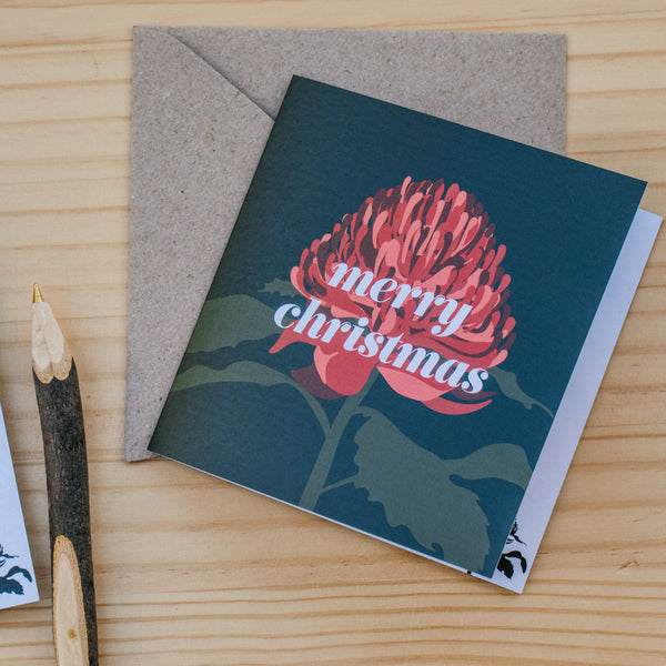 Christmas Cards - Waratah 10 Pack