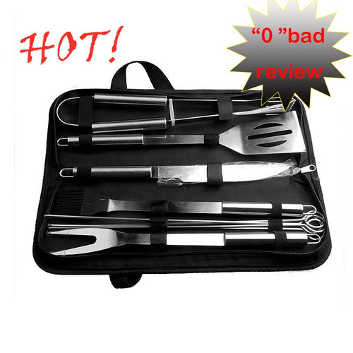 10 Piece Set Stainless Steel Barbecue Grilling Tools