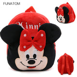 Cartoon Kids Plush Backpacks Mini schoolbag
