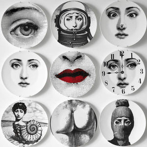 8 or 10-Inch Fornasetti Dinner Plates Decorative or Wall Dishes European Decor