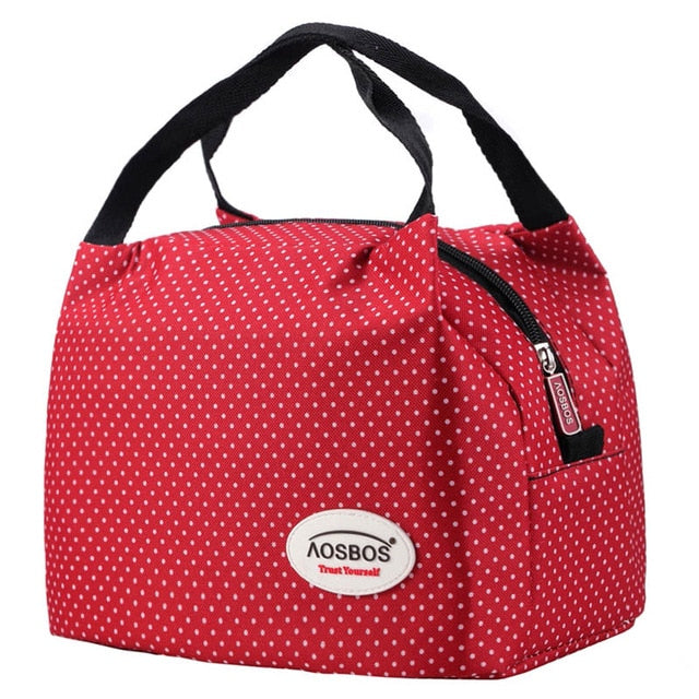Fashion Portable Insulated Canvas lunch Bag