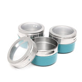 Magnetic Tin Spice Jar Set of 12