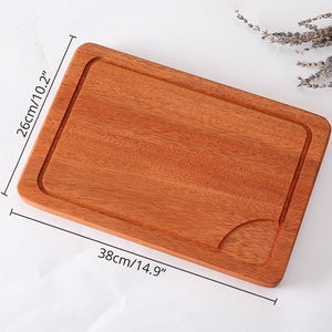 Sapele Wood Cutting Board With Juice Groove Thick