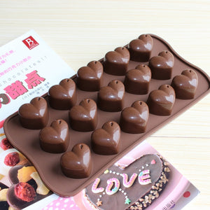 15 Hearts Shape Silicone Bakeware