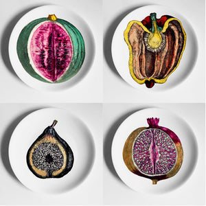 Fornasetti Plates, Wall Hanging Decorative Dishes