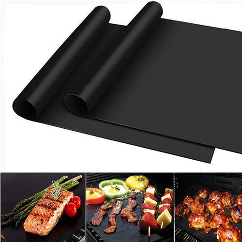 Teflon Non-stick BBQ Grill Mat. Used For Cooking or Grilling Heat Resistance,  Easily Cleaned Mat