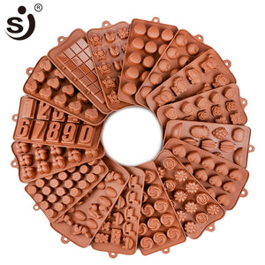New Silicone Chocolate Mold 24 Shapes Nonstick Cake Mold