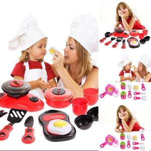 Pretend Educational Play Ware for Kids Cooking Kitchen Toys For Children