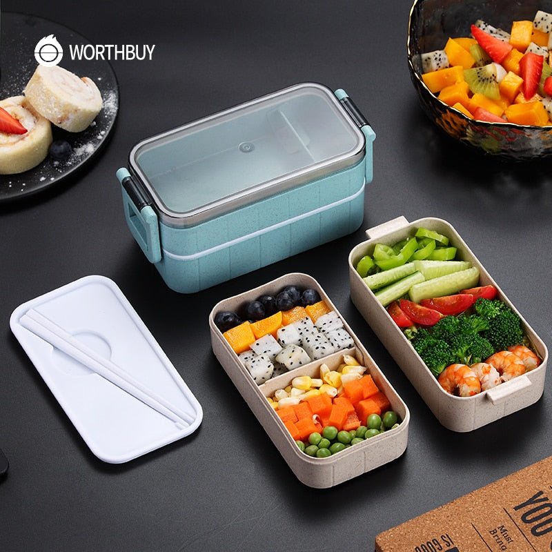 Microwave Bento Lunch Box For Kids, Leak-Proof