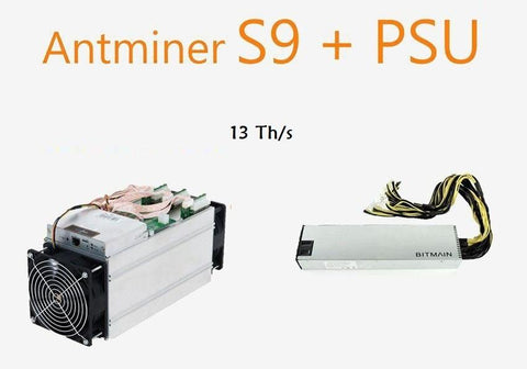 S9 Antminer - PSU APW3++ Included
