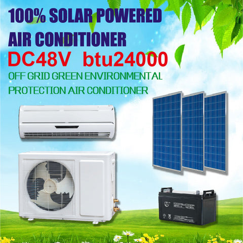 100% Solar Powered air conditioner, frequency conversion conditioning