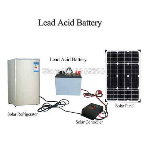 2017 12V 80AH Lead Acid Battery Connect With Solar Power System Refrigerator Freezer