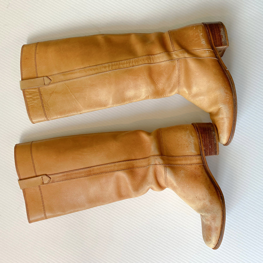 Vintage Tan Leather Boots