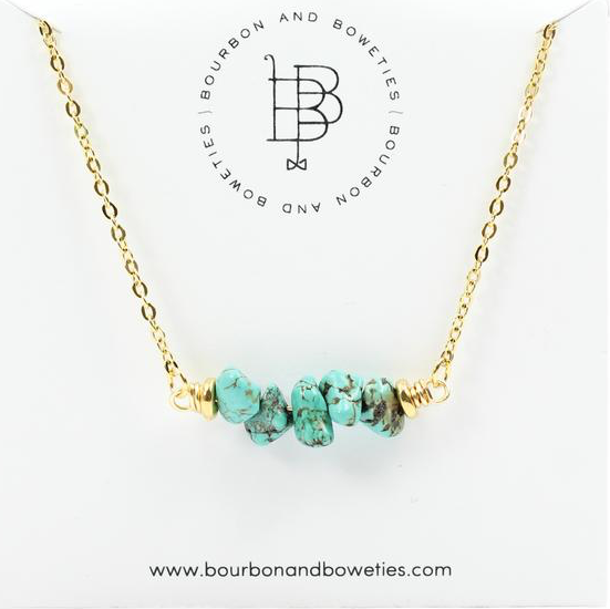 BB Turquoise Bar Necklace