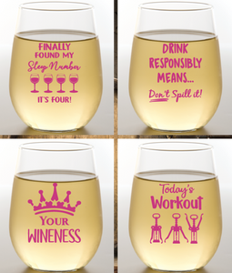 Wine Time Wine Glasses 2 Pk