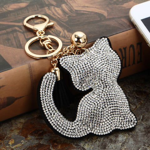 Sparkly Cat Key Chain