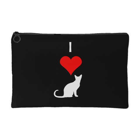 I Love Cats Pouch- Black
