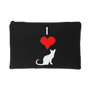 Image of I Love Cats Pouch- Black