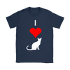"Image of ""I Love Cats"" White Print"