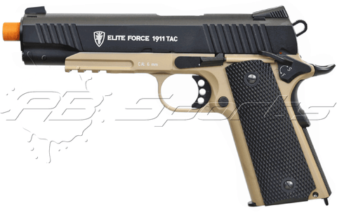 Elite Force KWC 1911 Tactical Two Tone Airsoft CO2 Blowback Pistol - Elite Force