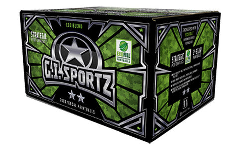 2000 Count G.I. Sportz 2 Star Strategic 50 Cal Paintballs - Adv Metallic Shell - Orange Fill - G.I. Sportz
